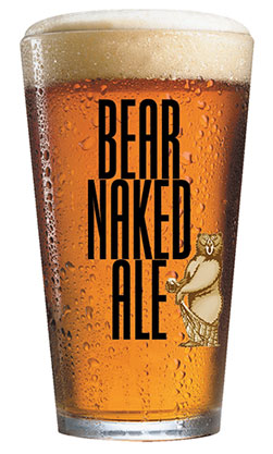 Bear Naked Ale Pint Glass