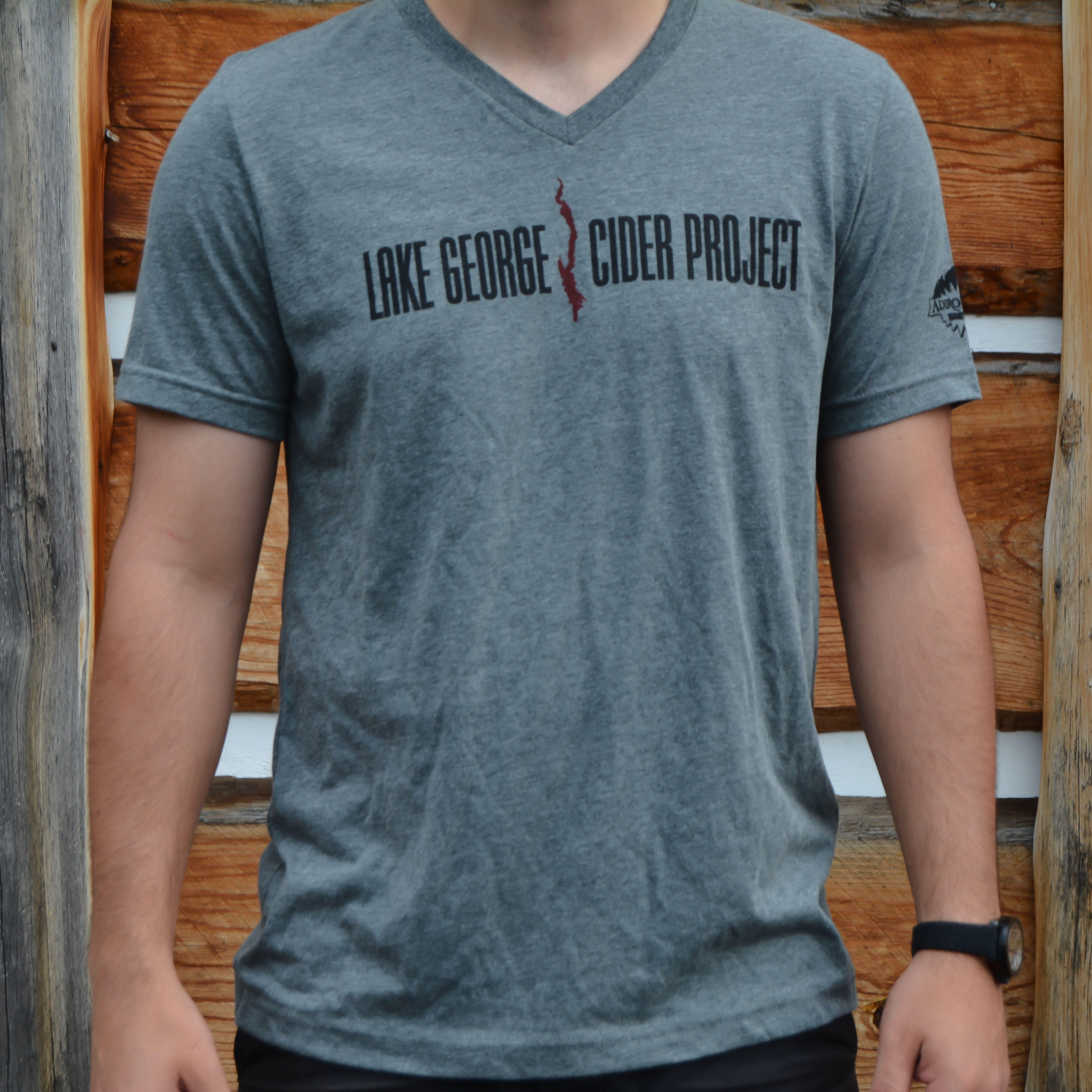 Unisex Grey Triblend Cider Project V-Neck Tee